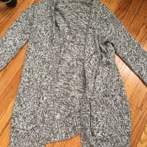 Grey and white Long cardigan